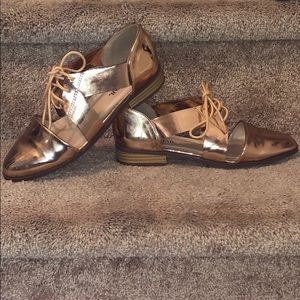 Just fab Rose gold shoes